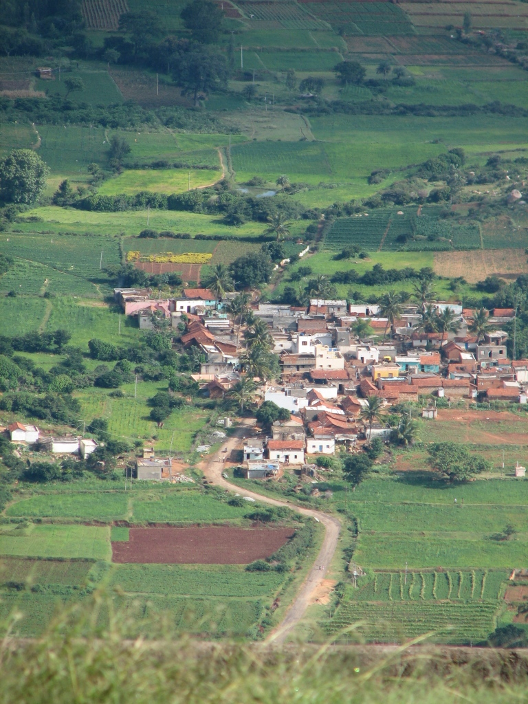 Village in clear