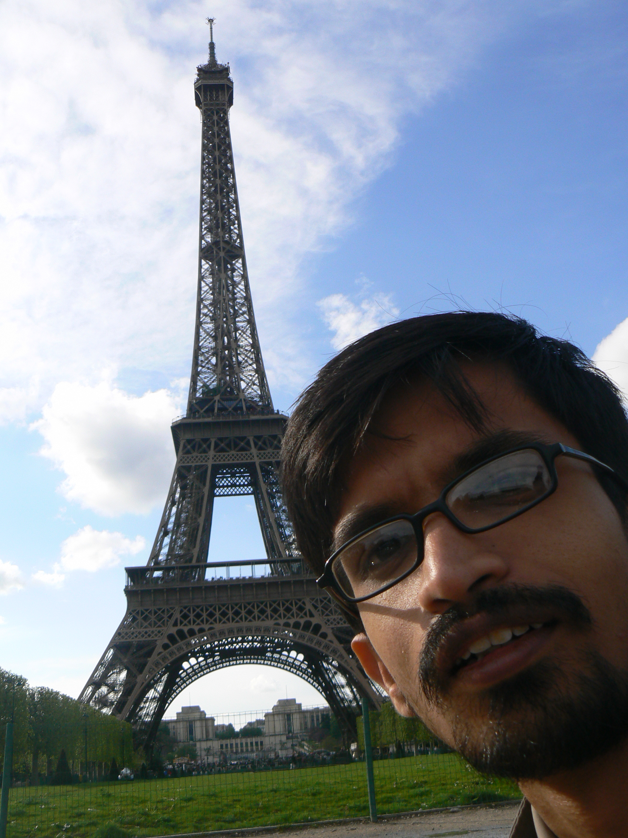 me and Eiffel Tower