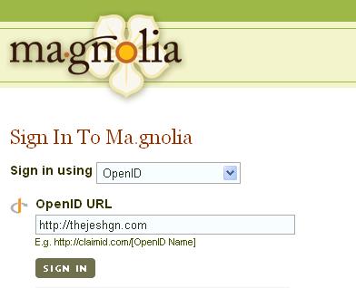 Login to ma.gnolia