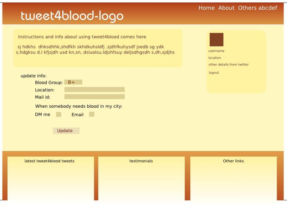 Tweet4blood profile